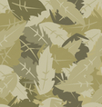 camouflage leaves vector image vector image