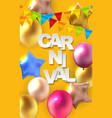 carnival banner with bunting flags and flying vector image vector image