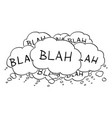 cartoon drawing of text or speech bubbles or vector image