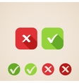 check mark icons flat icons for web and mobile vector image vector image