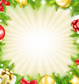 Christmas Fir Tree Card With Gifts vector image