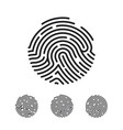 circle unique fingerprint icon design for app vector image