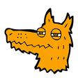 Comic cartoon smug fox face vector image