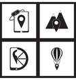 Concept flat icons in black and white mobile vector image vector image