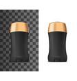 deodorant antiperspirant black and golden mockup vector image