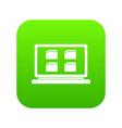 desktop icon digital green vector image vector image