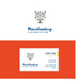 flat circuit logo and visiting card template vector image