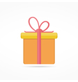 Flat Gift Icon vector image