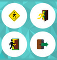 flat icon exit set of directional direction vector image vector image