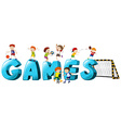 Font design for word games vector image
