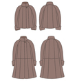 Fur coat vector image