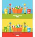 Garbage Sorting Website Design Template vector image vector image