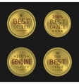 Golden label set vector image