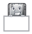 grinning with board r button installed on cartoon vector image vector image
