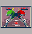 hand raise helmet vintage poster vector image vector image