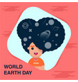 happy earth day banner vector image