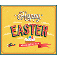 Happy Easter typographic design vector image