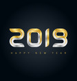 happy new year 2019 background with gold and vector image