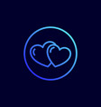 hearts icon vector image