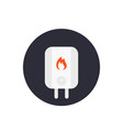 heating system icon in flat style vector image