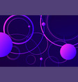 hipster landing page 3d dark violet neon colors vector image