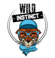 hipster wild leopard print for t shirt vector image vector image