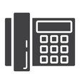 home phone solid icon household and appliance vector image vector image
