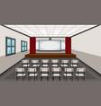 interior of drama classroom vector image
