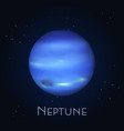 isolated neptune farthest planet in solar system vector image vector image