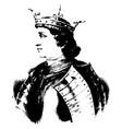 king charles iv of france vintage vector image vector image