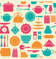 kitchen tools pattern color cooking set vector image vector image