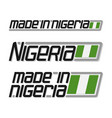 made in nigeria vector image vector image