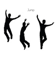 man in Jump pose on white background vector image vector image