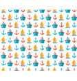 marine seamless pattern in flat cruise vector image vector image