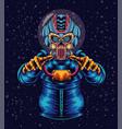 mecha astronaut in space vector image