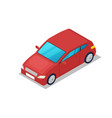 modern red car isometric 3d icon vector image vector image