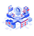 online shopping isometric vector image