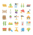 pack of farming flat icons vector image vector image