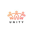 people human together family unity logo icon vector image vector image