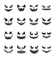 pumpkin face set decoration for halloween vector image