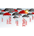 red and black umbrella with sale vector image