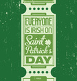 saint patricks design vector image