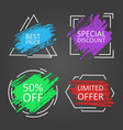 sale sales tag background promotion banner vector image