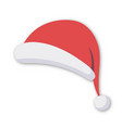 santa hat isolated on white background vector image vector image