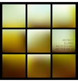 Set of abstract blurred brown backgrounds vector image vector image