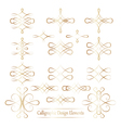 Set of gold calligraphic elements for your design vector image vector image