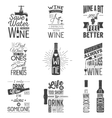 Set of vintage wine typographic quotes Grunge vector image vector image