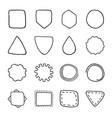 set vintage hand drawn shapes design elements vector image