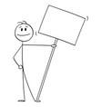 smiling person on demonstration or manifestation vector image