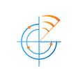 sonar logo vector image